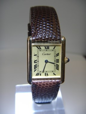 Vintage Watches For Sale Cartier tank du Must